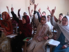 windows and young girls make attend literacy classes